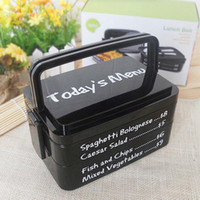 plastic lunch box - Wholesales Portable Lunch Box Large Capacity Microwave Oven Bento Box with Fork Spoon Eco friendly Food Container JH0017 smileseller