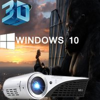 Wholesale Smart Windows D K projector Full HD High Brightness lumens contrast Support Miracast Airplay with HDMI VGA Fly Mouse