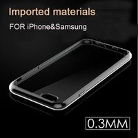 Wholesale Ultra Thin mm TPU Case Crystal Clear Transparent Soft Gel Cover For iphone S Plus SE S Samsung Galaxy S7 S6 edge Note