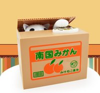 big boy bank - Hot sale Cute Children Electronic Itazura Coin Bank Toy Kids boys girls Funny Stealing Cat Money Box DHL