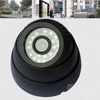 Wholesale 300000 Pixel High Resolution Dome CCTV Security Camera System Surveillance Ir Infrared Night Vision Home Security DVR01 K30