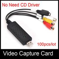 Wholesale USB Easycap tv dvd vhs video capture card audio av easy cap adapter No need CD Driver DHL ship