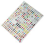 Wholesale Set Set Set Cute Cartoon Rubber Home Button Sticker for iPhone S G S Plus