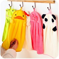 Wholesale Cute Animal Microfiber Kids Children Cartoon Absorbent Hand Dry Towel Lovely Towel For Kitchen Bathroom Use