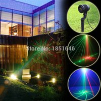 background gardens - eight patterns red green IP68 Holiday Waterproof Laser projector disco Light party Tree Garden Lighting W blue background