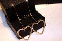 Wholesale Top grade Wedding Earrings Jewelry Fashion beautiful Inlay Rhinestone heart Pendants earrings Long earrings Charm earrings for women Gifts