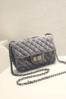 Wholesale 2016 New style popular Diamond Lattice chain velvet fashion small single women s shoulder bags women s handbags