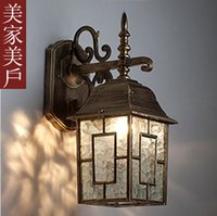 antique copper lamps - New limited special European antique copper lamp waterproof outdoor wall lamp aisle lights corridor lights balcony wall technolo