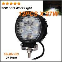 Cheap 12PCS X 27W Led Truck Work Lights 27 Watt Led Work Light Atv Running Light Offroad Led Lights