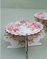 cupcake stand - New arrival Mini paper cupcake stand snack stand wedding cake stand diameter cm