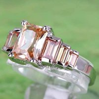 emerald ring - 2015 New Cheap AR5 Hot Sales Emerald Cut Morganite Gemstones K Platinum Plated Ring In Stock Size Frees Shipping A0055