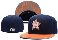 hat boxes - New Arrival MLB Houston Astros Baseball Cap Front Logo Fitted Hat wicks away sweat Adult Fit Sport Cap With Box