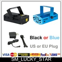 Wholesale Quick Delivery Blue Black Mini Laser Stage Lighting mW Green Red Laser EU US Plug Disco Dance Club Bar Home Party With Tripod
