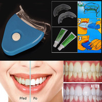 Wholesale Dental Personal Oral Hygiene Care Whitning Light Dental Tooth Teeth Whitener Whitelight Kit Set With OPP Package Free DHL