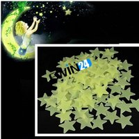 Wholesale Glow In The Dark Stars Space Stellar Wall Decals Stickers for Kids Room pack packs