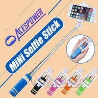 Wholesale Mini Selfie Stick Handheld Extendable For Samsung Galaxy S7 S6 S7 Edge Iphone s Plus Monopod Mini Self Pole Tripod