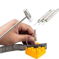 Wholesale S5Q Watch Band Link Hammer Punch Pins Watch Strap Holder Remover Repair Tool Kit AAAFRD