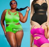 Além de roupas de banho de moda de tamanho Preços-Plus tamanho XL-4XL combinado estilos mulheres swimwear Bandage Sexy Moda One Piece Swimsuit cintura alta acolchoada Plus Size para Mulheres Bathing Suit