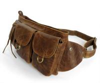 Wholesale 2015 New Hot Rare Vintage Leather Women s Waist Bag Fanny Pack Men s Purse J M D