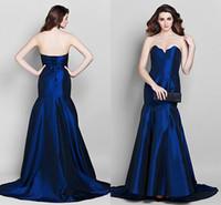 best quality carpeting - Best Quality Sweetheart Mermaid Royal Blue Evening dresses Women Formal Vestido Fiesta Bandage Sleeveless Long Satin Draped Occasion Gown WW