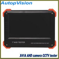 Wholesale X41A CCTV AHD Camera Tester inch LCD Analog Video Test V Power Output Cable Test AHD cctv Tester