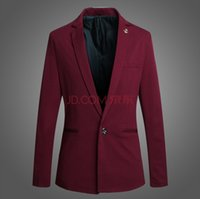 best of city - A grain of male han edition cultivate one s morality a little suit city boy best man wedding dress suit jacket Wine red