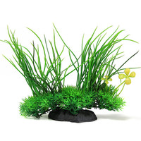 artificial pet grass - Aquarium Fish Tank Artificial Plastic Plant Green Grass Decoration For Aquatic Pet Supplies