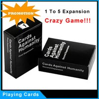 Wholesale Crazy Game Playing Cards Games Party Game Playing Cards Gifts For Horrible People US UK Edition Basic Edition and Expansion