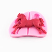 Wholesale Carousel Horse Silicone Fondant Mold Cake Soap Chocolate Paste Gum Baking Mold Cake Decorating Tools CT659