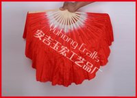 Imitation silk chinese dance fans - Chinese dance tool imitated silk fabric with sequins ballet dance fan colors available