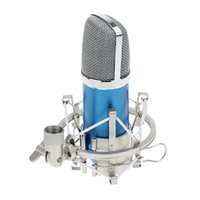 condenser microphone - New Arrival Condenser Sound Recording Microphone with Mic Shock Mount mm Audio Cable Foam Cap for PC Laptop Radio Studio I772
