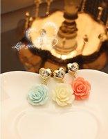 Cheap Wholesale-Diamond Flower Design dust plug straps for iphone 3.5mm earphone Jak plug jewelry accessories pendant free shipping