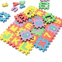 Wholesale New bag Puzzle Age Kid Educational Toy Alphabet A Z Letters Numeral Foam Mat For Children