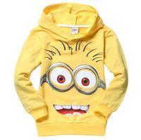 Wholesale Despicable me minion boys clothes girls shirts Sweatshirts Children s Hoodies Sweatshirts child Spring hoodies Tops Tee fast ship