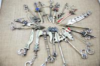 zinc alloy Key The Avengers 30pcs LOL Champions Weapon Sword League of Legends Zinc Alloy Keychains Exquisite Anime Accessories Key Ring Chain 23 designs D207