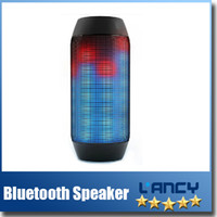 Wholesale For iPhone PULSE Style Wireless Bluetooth Speaker w Custom LED Light Show Portable Wireless speaker Bluetooth Black Mini Speaker