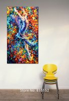 Oil Painting ballerina art prints - Flying Ballerina Dancer Portrait Oil Painting Print On Canvas Palette Knife Picture Mural Art for Home Living Hotel Wall Decoration