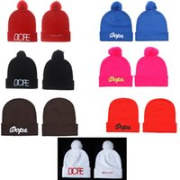 Wholesale Many New Cheap Winter Dope Beanie Hats Men s Women s fashion Hip Hop Beanie caps Skull CapsWool Knitting Outdoor Skiing Caps