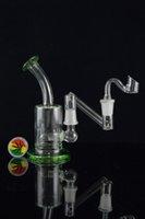 al por mayor adaptador de línea-Mini tubos de vidrio de vidrio Dropdown Bongs de vidrio con la hembra a la hembra adaptador Drop Down 14.5mm aceite Rig 5inch agua Bong Inline Perc Grinder REGALO