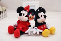 mickey mouse plush toy - 2pcs cm Mini Lovely Mickey Mouse And Minnie Mouse Stuffed Animals Plush Toys For Children s Gift Kids Toys