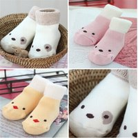 anti slip socks for dogs - New Winter Newborn Cartoon Dog Cat Thick Socks Anti Slip Floor Sock Baby Girl Boy Warm Sokken Paris For Years AS115