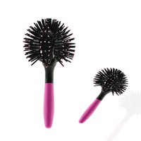 Wholesale New D Bomb Curl Brush Styling Salon Round Hair Curling Curler Comb Tool Pink