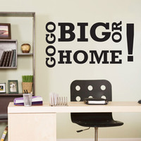 big life quotes - Inspirational Vinyl Quote Wall Decal Art Decor Sticker Workout Go Big Or Go Home