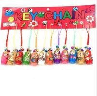 Wholesale 20 Wood Charm Pendants Russian Doll Mixed cm x cm quot x quot fits jewelry bracelet bangle making decoration Z1026
