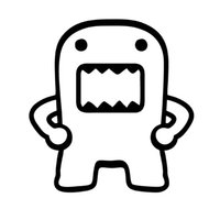 Wholesale Car Stickers Domo Kun Vinyl Car Sticker decal Various Colours Jdm Drift Truck Window Bumper