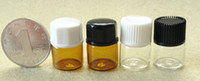 amber plastic bottle - 1ml screw neck glass eliuqid bottle vials ml ml mini amber glass bottle with black screw cap plastic orifice reducer small glass lids