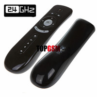 Wholesale 2 GHz Mini Wireless Gyroscope Fly Air Mouse T2 Android Remote Control D Sense Motion Stick Gaming Laptops Desktops Accessories