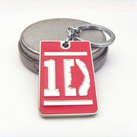band keyrings - The Music Band Orchestra one direction logo Color cm Metal Keychain Keyring New statement keychains fashion jewelry
