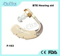 Wholesale HOT Sale High Quanlity Rechargeable Portable device invisible Hearing Aids LEYIN F BTE Hearing Aid sound amplifier