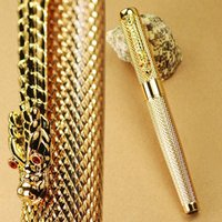 Cheap Golden Checked China DRAGON 18KGP Nib Fountain Pen JINHAO Agent